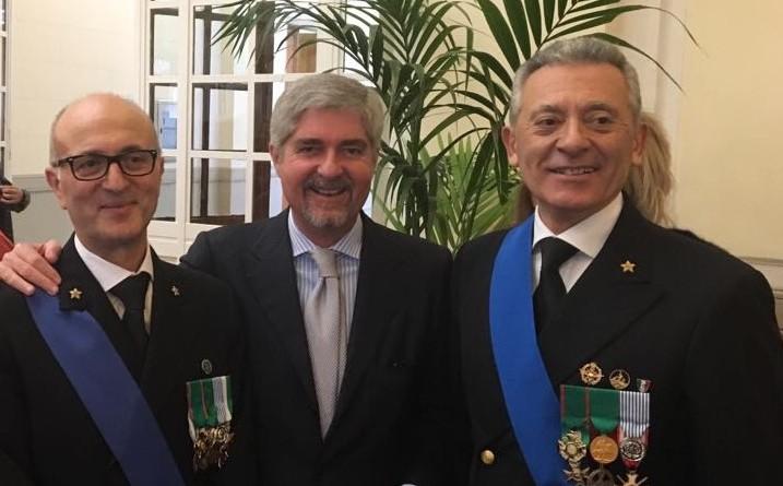 Gli auguri di Mario Mattioli all'Ammiraglio Nicola Carlone