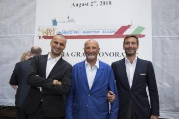 Da sinistra Alessandro Onorato, Vincenzo Onorato, Achille Onorato