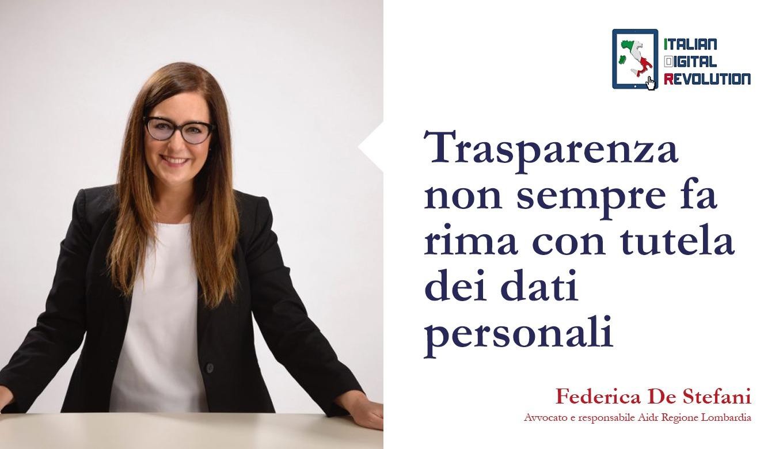 Trasparenza non sempre fa rima con tutela dei dati personali