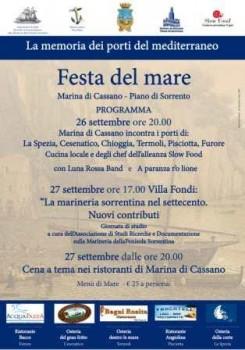Festa del Mare Marina di Cassano Manifesto