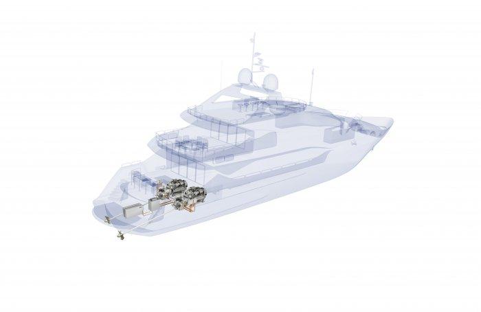 MTU hybrid system_Sunseeker yacht
