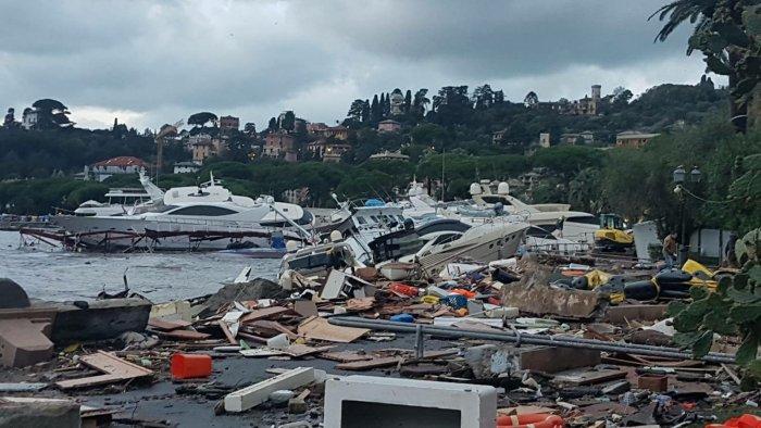 rapallo-porto-distrutto-mareggiata
