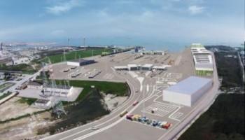 rendering terminal ro-pax fusina Porto marghera